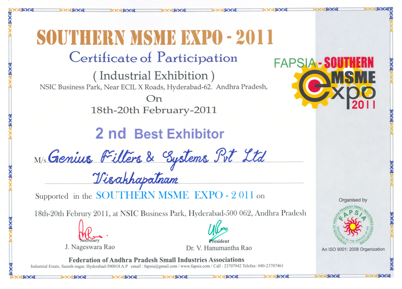 2nd BEST EXHIBITOR Award